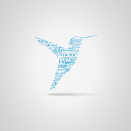 Bird shape word cloud