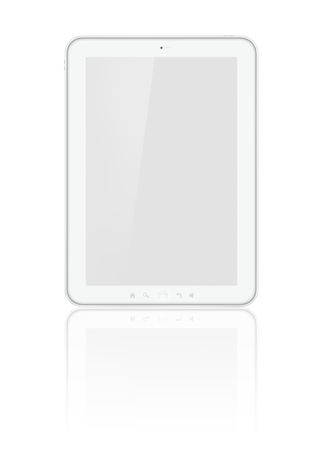 Tablet isolated on white Imagens