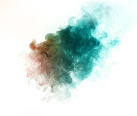 Colorful smoke on white background Imagens
