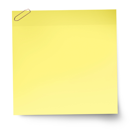 Yellow reminder note paper