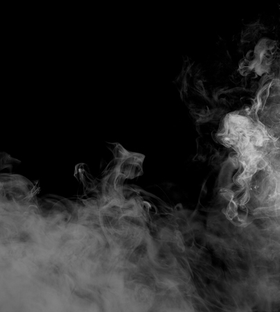 Colorful smoke shape on black background