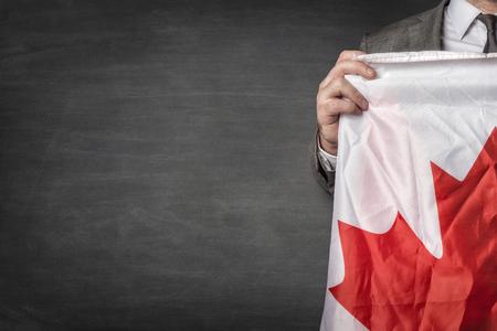 Businessman with Canada flag