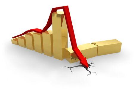 Crisis chart Stock Photo - 4646324