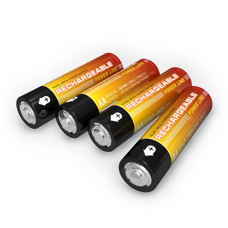 Four AA rechargeable batteries photo