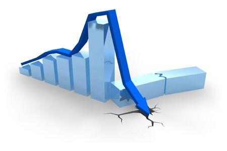 Blue crisis chart photo