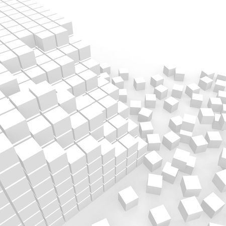 rupture: Scattered cubes