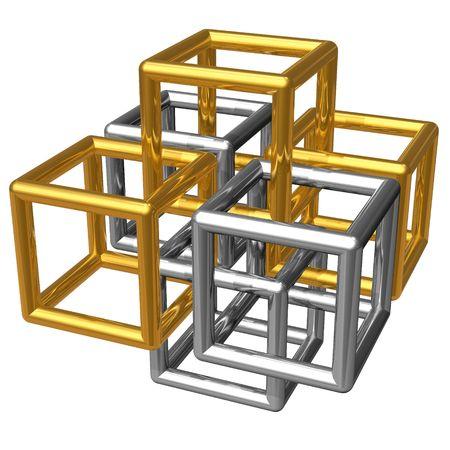 Abstract metallic construction photo
