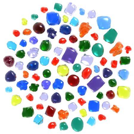 Gemstones set isolated on white photo