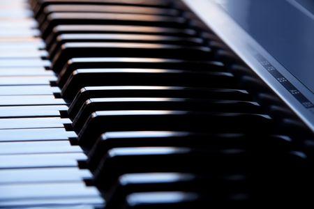 synthesizer: Synthesizer keyboard Stock Photo