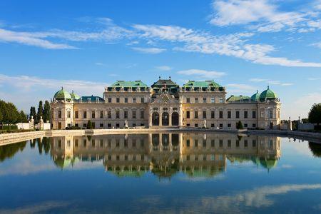 Sommer Schloss Belvedere in Wien Standard-Bild - 4728374