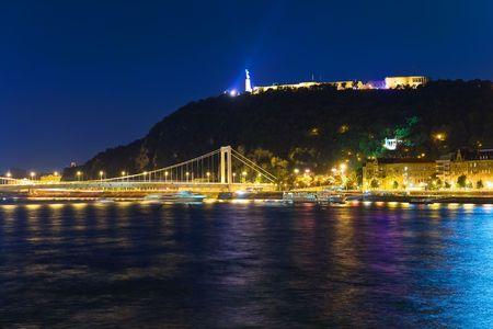 historical reflections: Gellert Hill, Budapest, Hungary Stock Photo