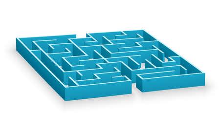 Blue labyrinth photo