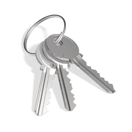Shiny steel keys photo