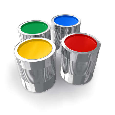 filling material: Cans with color paint