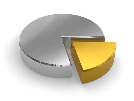 Silver pie chart photo
