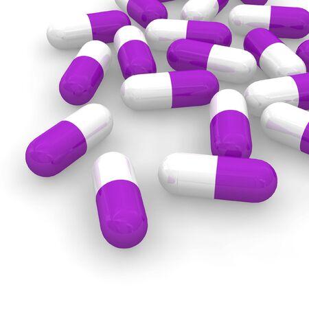 drogadiccion: Violeta p�ldoras Foto de archivo