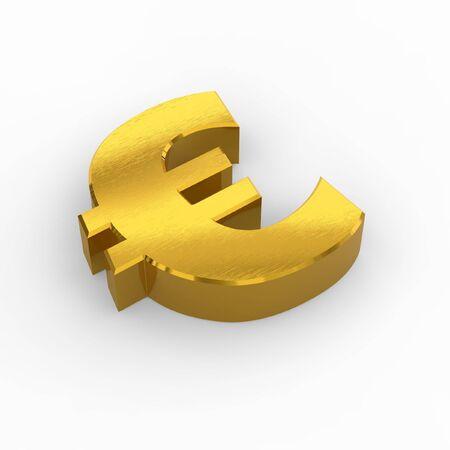 Golden euro symbol photo