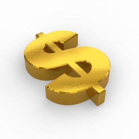 financial metaphor: Golden s�mbolo del d�lar Foto de archivo