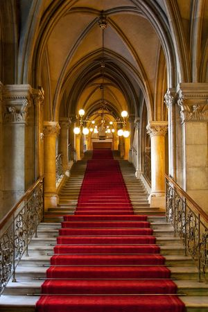 escalera: G�tico castillo interior Foto de archivo