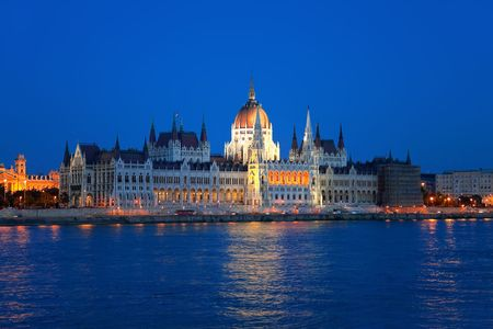 Hungarian Parliament in Budapest photo