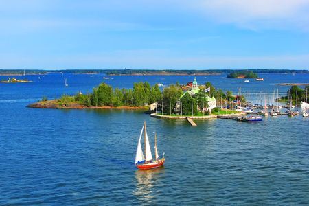 Финляндия: Baltic sea in Helsinki, Finland Фото со стока