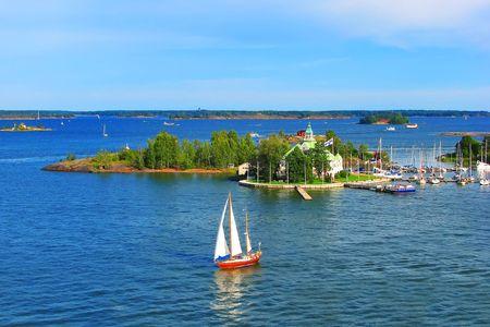 Baltic sea in Helsinki, Finland Stock Photo