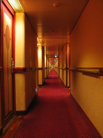passageway: Long corridor Stock Photo