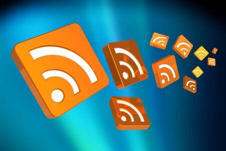 rss: Flying RSS symbols