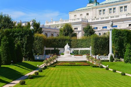 elisabeth: Monument for Empress Elisabeth in Vienna, Austria Stock Photo