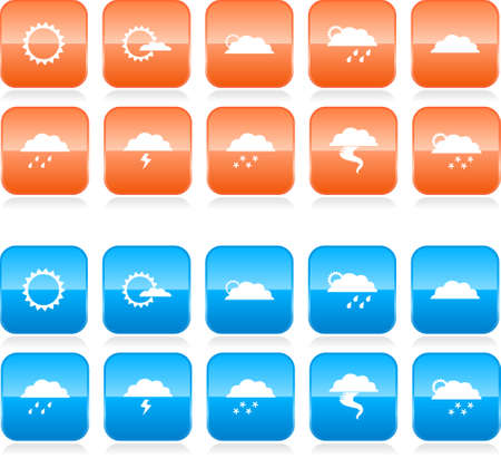 weather report: Weather icon set