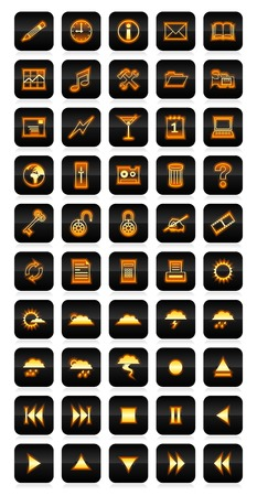 Neon icon set Vector