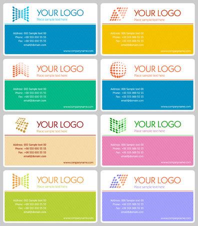 Business card set 01 Stock Vector - 4833038