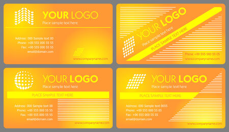 yelow: Business card set 04