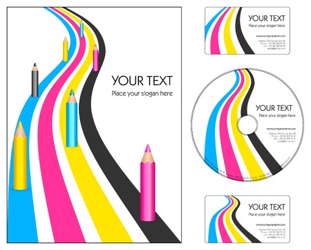 Corporate design layout Vector