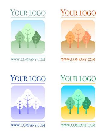 Floral logo set Stock Vector - 4842232