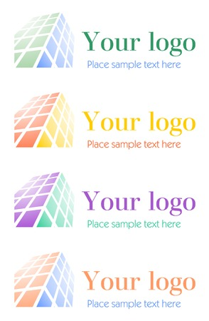 Architectural corporate logo set Иллюстрация