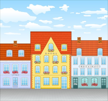 Street in old town Vector