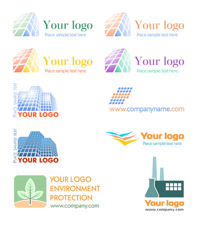 corporate building: Logo set Illustration