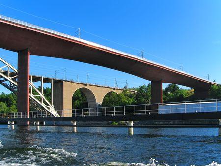 catenation: Railway bridges in Stockholm, Sweden