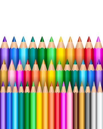 Rainbow pencil background Illustration