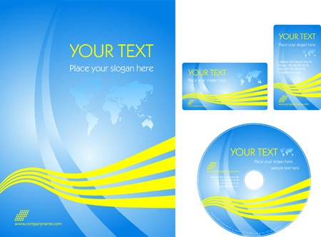 Blue business template Stock Vector - 4903579