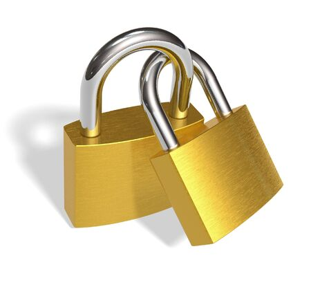 Joined padlocks photo