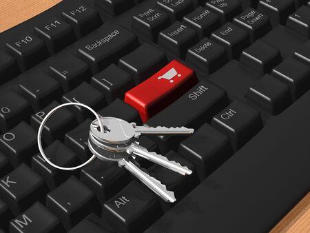 bank cart: Secure e-commerce concept