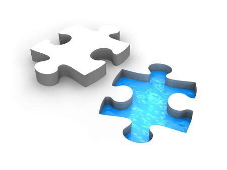 Puzzle pool photo