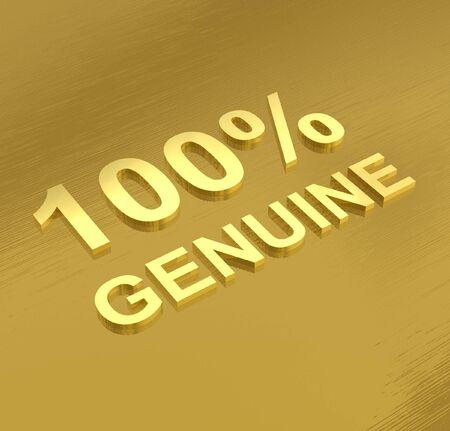 proven: Authenticity label Stock Photo