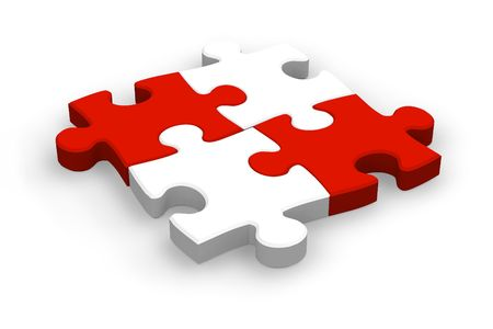 assemble: Four puzzle pieces
