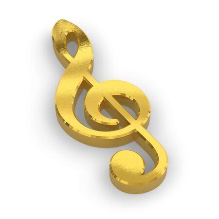 Golden treble clef photo