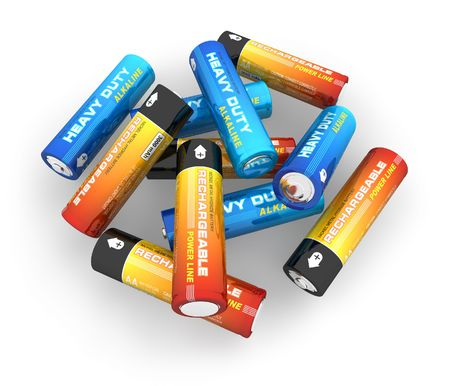 alkaline: AA batteries