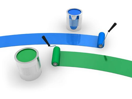 colorize: Blue and green paint