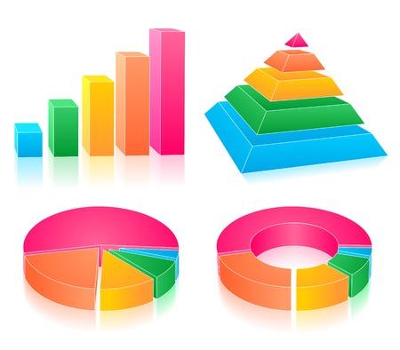 Set of rainbow charts Stock Vector - 5219103